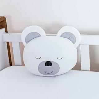 Almofada Divertida Urso Branco Ursa Mel