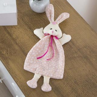 Naninha Carinhosa Soft Coelha Rosa